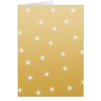 White and Gold Color Star Pattern Card