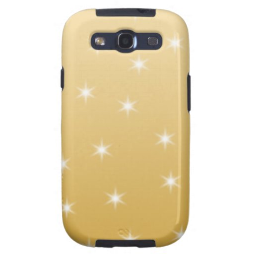 White and Gold Color Star Pattern Samsung Galaxy SIII Cover