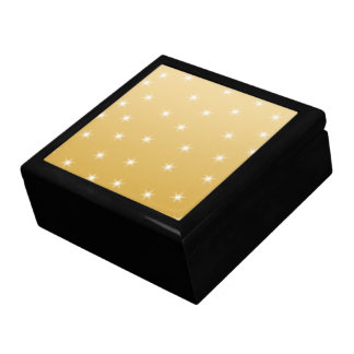 White and Gold Color Star Pattern Trinket Boxes