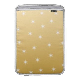 White and Gold Color Star Pattern Sleeves For MacBook Air