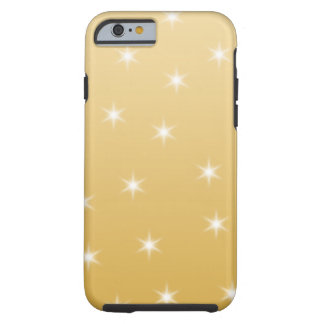 White and Gold Color Star Pattern iPhone 6 Case