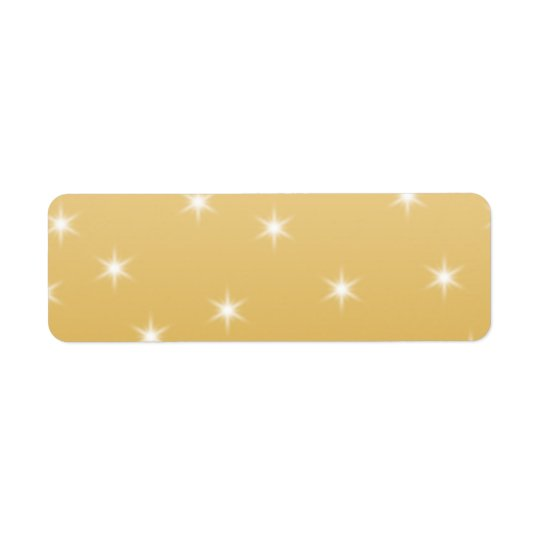 White and Gold Color Star Pattern Label