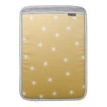 White and Gold Color Star Pattern Sleeve For MacBook Air