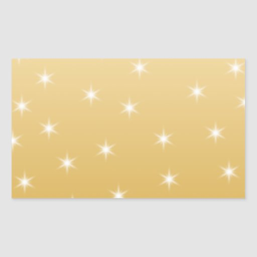 White and Gold Color Star Pattern Stickers