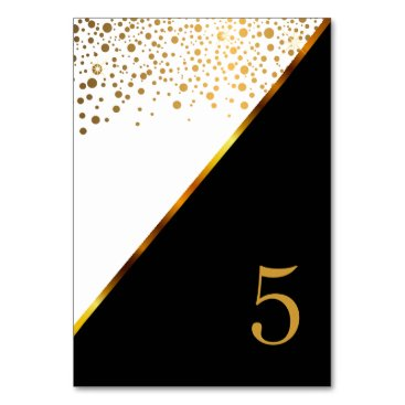 Professional Business White and Gold Confetti Dots Card