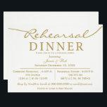 """white and gold Elegant Script Rehearsal Dinner Invitation<br><div class=""""desc"""">white and gold Elegant Script Rehearsal Dinner Invitations</div>"""