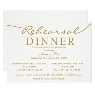 save 60 on gold white rehearsal dinner invitations limited time