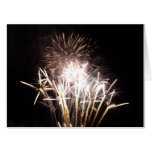 White and Gold Fireworks I Patriotic Celebration Card