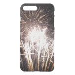White and Gold Fireworks I Patriotic Celebration iPhone 7 Plus Case