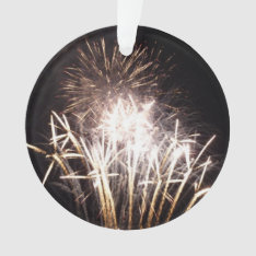 White And Gold Fireworks I Patriotic Celebration Ornament at Zazzle