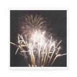 White and Gold Fireworks I Patriotic Celebration Paper Napkin