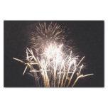 White and Gold Fireworks I Patriotic Celebration Tissue Paper