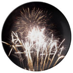 White and Gold Fireworks I Plate