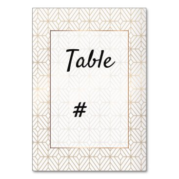 Wedding Themed White and gold foil geometric wedding card