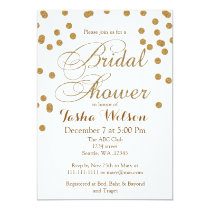 white and Gold Glitter Bridal Shower Invite