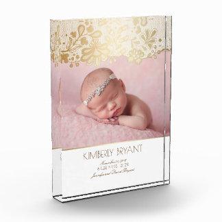 White and Gold Lace Elegant Sweet Photo Award