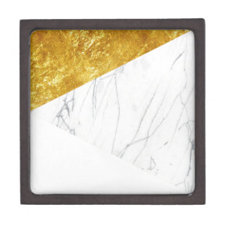 White and Gold Marble Gift Box