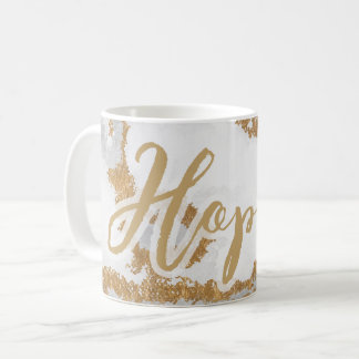 White and Gold Marble Modern holiday Coffee Mug