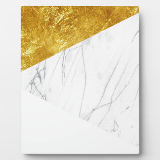 White and Gold Marble Plaque