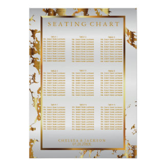 White and Gold Marble - Seating Chart (9)
