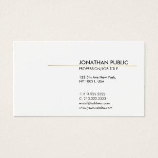 White and Gold Minimalistic Elegant Plain Modern Business Card