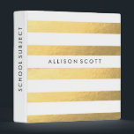 """White And Gold Personalized Binder<br><div class=""""desc"""">This super cute white and gold binder would be perfect for anything! Whether you want to keep your school subjects organized or recipes, they&#39;ll look amazing in this binder! Personalize this binder just for you by adding whatever text you&#39;d like on to the spine of the binder, and on the...</div>"""