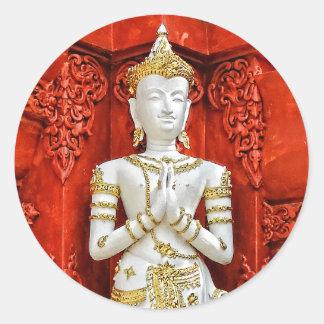 White and Gold statue Sticker