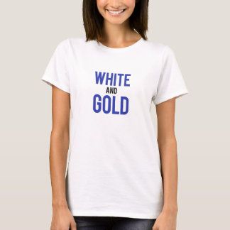 White and Gold T-Shirt