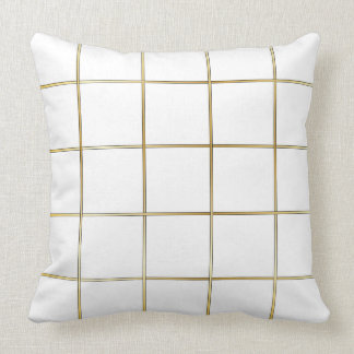 White and gold throw pillow