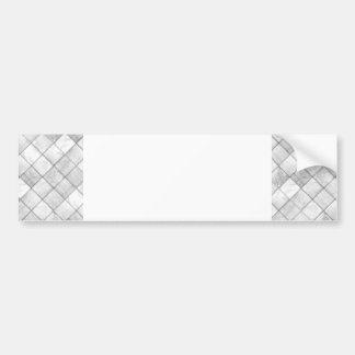 White And Gray Faux Patchwork Quilting Pattern Bumper Sticker