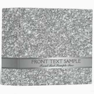 White And Gray Glitter Pattern Binder