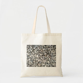 White and gray gravel of various shapes and sizes tote bag