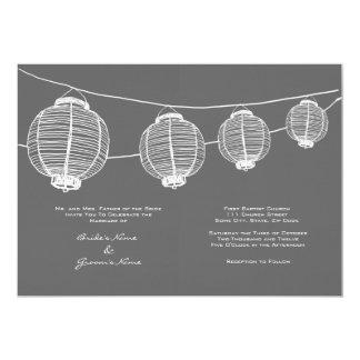 White and Gray Lanterns Wedding Invitation