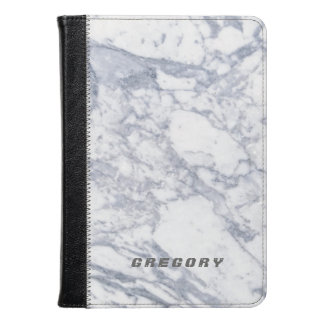 White And Gray Marble Stone Pattern Kindle Case