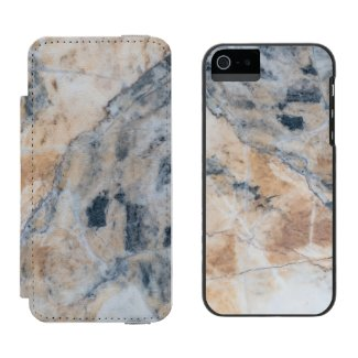 White And Gray Marble Stone Texture G1 Incipio Watson™ iPhone 5 Wallet Case