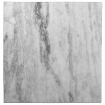 White And Gray Marble Texture Pattern Cloth Napkin