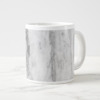 White And Gray Marble Texture Pattern Giant Coffee Mug