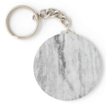 White And Gray Marble Texture Pattern Keychain
