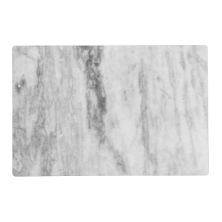 White And Gray Marble Texture Pattern Laminated Placemat