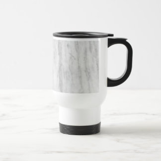 White And Gray Marble Texture Pattern Travel Mug