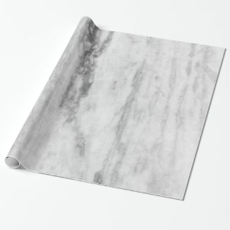 White And Gray Marble Texture Pattern Wrapping Paper