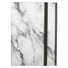 White And Gray Marbled Stone Pattern Ipad Air Cover at Zazzle