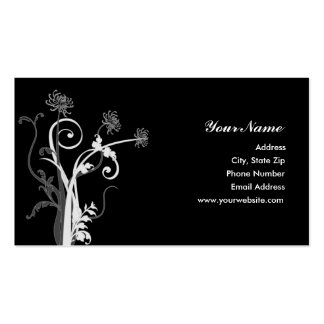 White and Gray Mum Silhouette Double-Sided Standard Business Cards (Pack Of 100)
