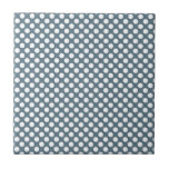 White and Gray Polka Dot Ceramic Tile