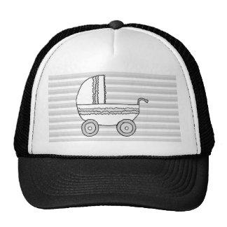 White and Gray Pram. Trucker Hat