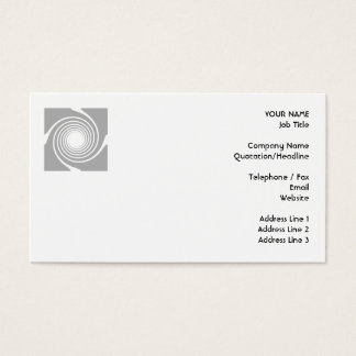 White and gray spiral design. business card