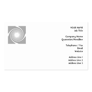 White and gray spiral design business card template