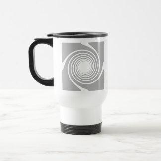 White and gray spiral design. mugs