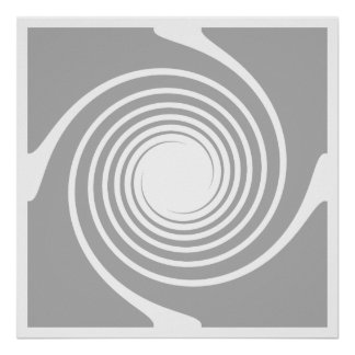 White and gray spiral design. print