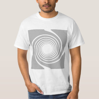 White and gray spiral design. T-Shirt